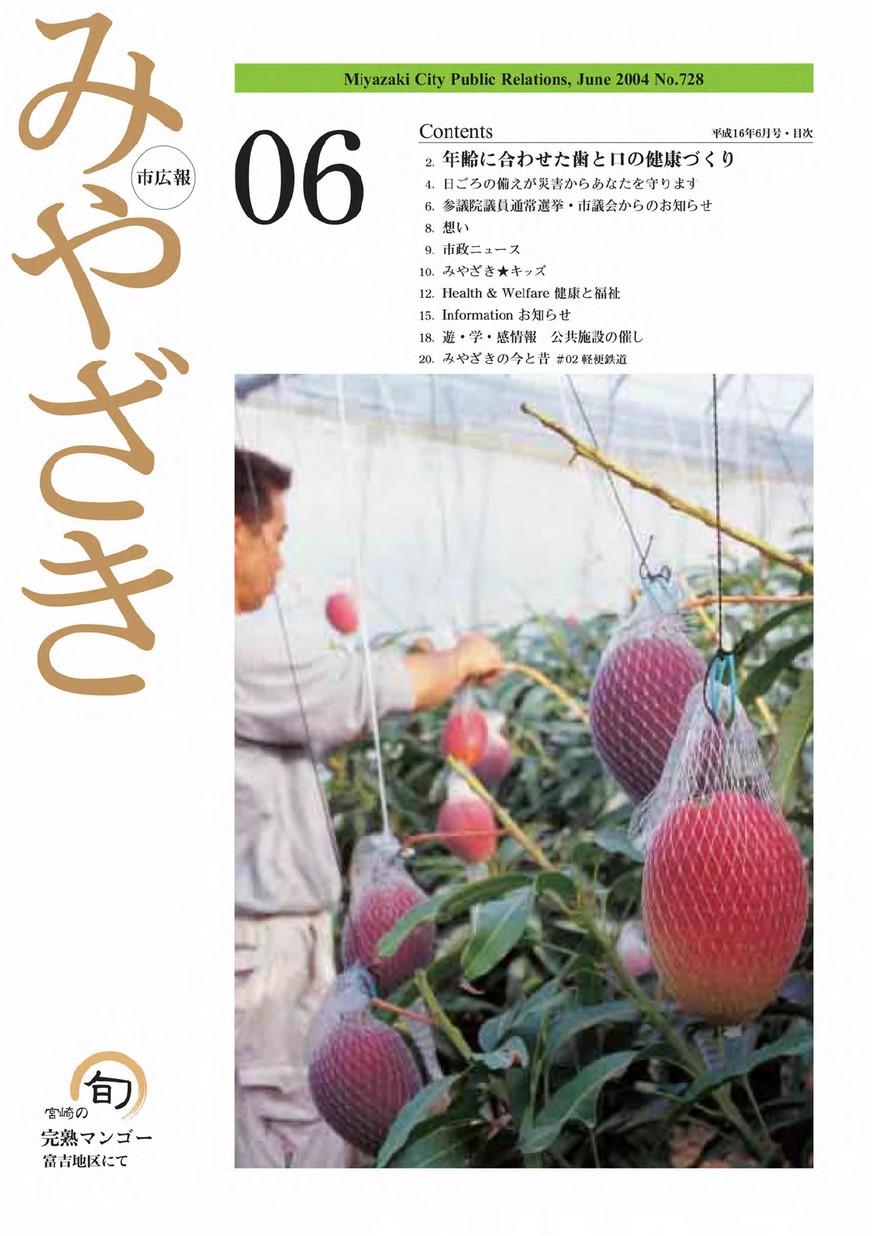 市広報みやざき 728号 2004年6月号の表紙画像