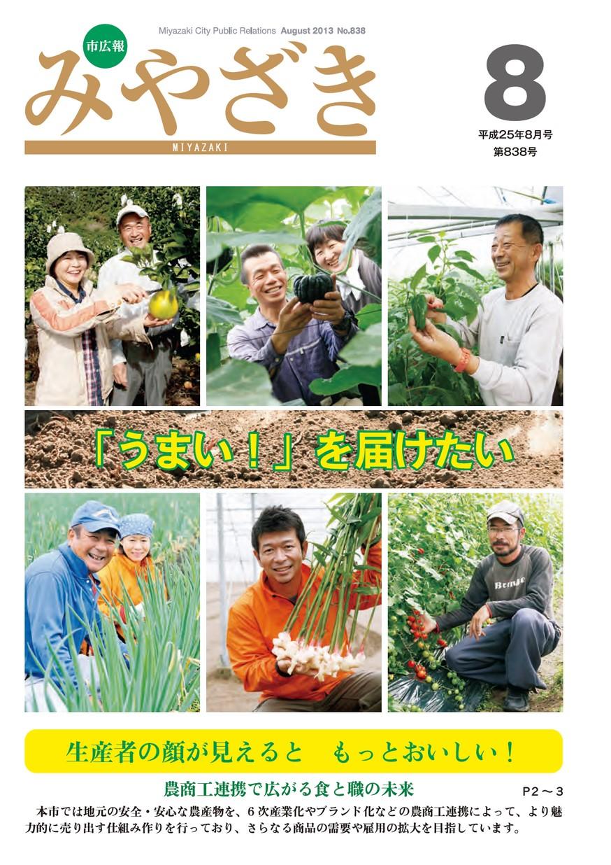 市広報みやざき 838号 2013年8月号の表紙画像